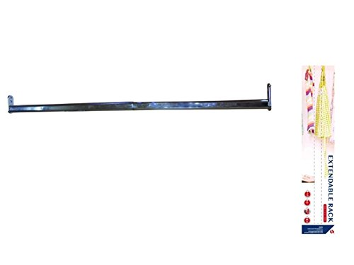 Extensible Barra perchero Barra perchero (Longitud Ajustable perchas Soporte, extensible, Barra para armario, armario Barra, 40–60cm)