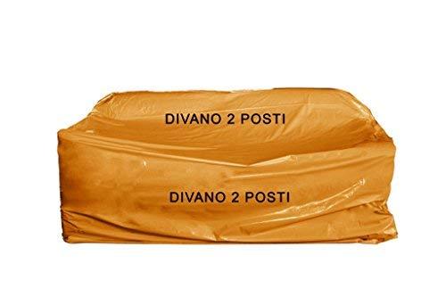 Simba Paper Design 5 Sacchi copridivano Nylon 2 posti x trasloco/conservare Mis. cm 175 x 320