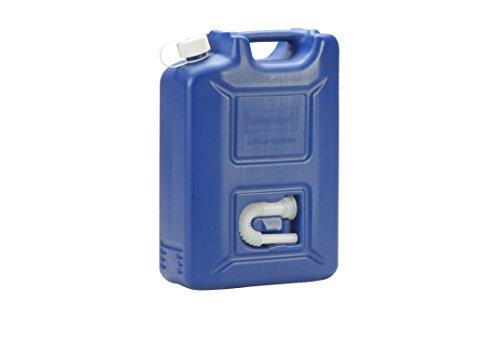 hünersdorff AdBlue Kanister 20 l, ideal zur Betankung an AdBlue-PKW-Zapfsäulen, Mehrwegkanister mit Auslaufrohr, passt in AdBlue Tankstutzen, unbefüllt