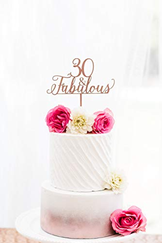 30 & Favoloso Cake Topper Taglio Laser Thrity Birthday Girl Boss Adventure