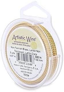 Beadalon (1-Pack) Artistic Wire 18 Gauge Twisted Non-Tarnish Brass Wire 5 Yards