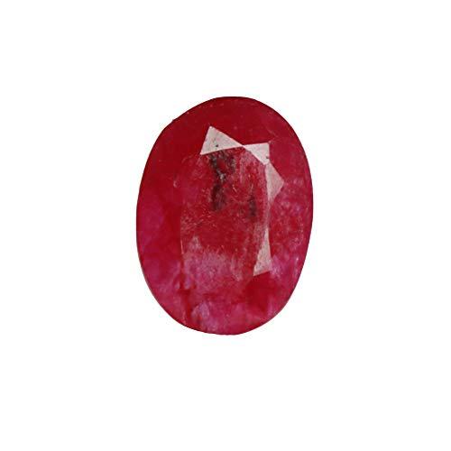 GEMHUB Piedra preciosa de rubí rojo natural de 10,95 quilates certificada con forma ovalada, ideal para piedras preciosas sueltas