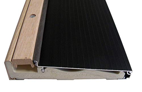 Exterior Inswing Threshold 5 5/8 inch with Wood Cap and Composite Bottom- Dark Bronze (36 inch Uncut)