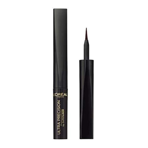 L'Oréal Paris Flüssiger Eyeliner mit weicher und flexibler Feder, Super Liner Ultra Precision, Nr. 02 Braun, 1 x 2 ml