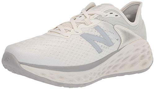 New Balance womens Fresh Foam More V2 Running Shoe, Sea Salt/Light Aluminum, 8.5 Wide US