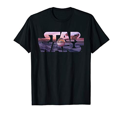 Star Wars The Mandalorian Razor Crest Floating Pod Logo T-Shirt