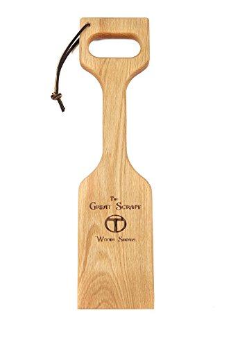 Great Scrape No-Bristle Woody Grill Scraper Shovel