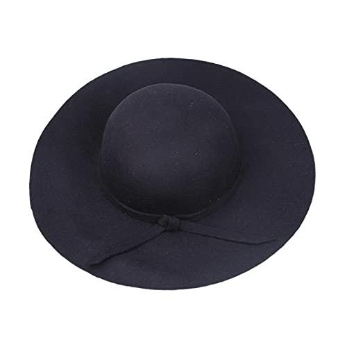 AMFG Sombrero Damas otoño e Invierno Cashmere Lana cúpula Adulto Sombrero Top Sombrero británico Sombrero Sombrero Grande Sombrero Palet Sombrero (Color : B, Size : Medium(56-58cm))