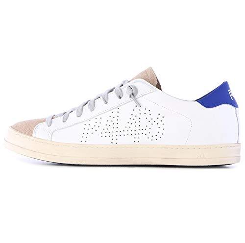 P448 John M Sneaker für Herren, Weiß - Weiß - Größe: 43 EU