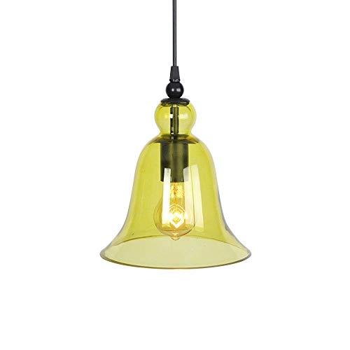 Belief Rebirth Lampade a sospensione a soffitto con vetro Verde - Adattatore per lampade a sospensione per ristorante con isola cucina per fattoria Moderna a livello o inclinata D & Eacute; Cor -