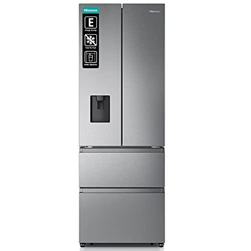 Hisense RF632N4WIE French Door Kühl-Gefrierkombination/ NoFrostPlus/ Inverter-Kompressor/ Wasserspender/ CrispZone/ 200 cm/ Kühlteil 336 l/ Gefrierteil 149 l/ 38 dB/ 295 kWh/ Jahr/ Inox-Look