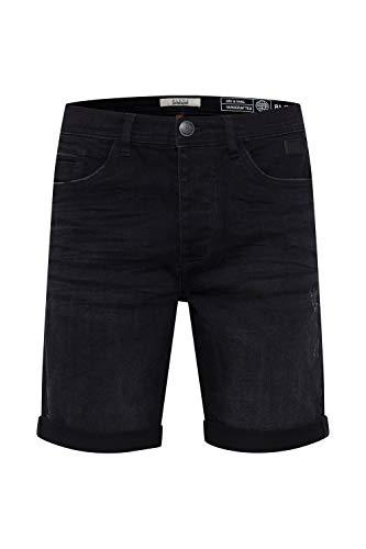 Blend Martels Herren Jeans Shorts Kurze Denim Hose Mit Destroyed-Optik Aus Stretch-Material Slim Fit, Größe:L, Farbe:Denim Black (76204)