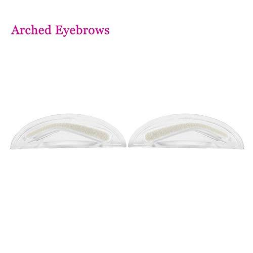 Cadeau de fête des mères 1 paire de tampons à sourcils naturels éponge sourcils forme parfaite kit d'outils de maquillage 3 types(Arched sponge + handle set)