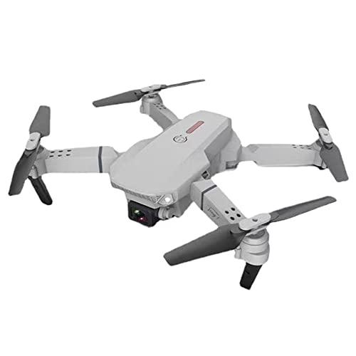 GPS Drone con videocamera HD Live Video per adulti Portatile Selfie Quadcopter con 2 batterie per principianti con ritorno automatico a casa Percorso di volo personalizzato Follow Me Auto Hove grigio