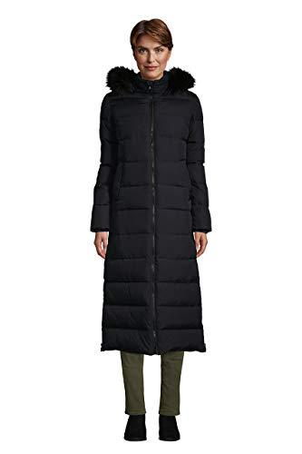 Lands' End WMS Maxi Down Coat Black Regular Small