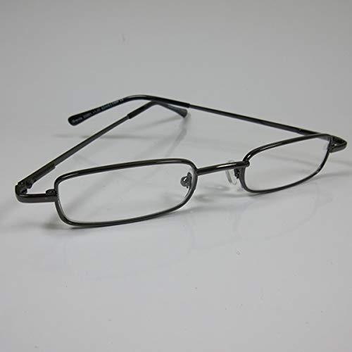 CEPEWA kleine leesbril metaal +3,0 antraciet kant-en-klare bril U & YHN flexibele beugel
