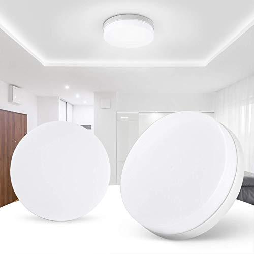 Luces de techo LED de montaje en superficie de 18W / 24W / 36W / 48W, AC85-265V Focos de techo de oficina LED redondos modernos de luz diurna blanca (6500K) para dormitorio, sala de estar, cocina