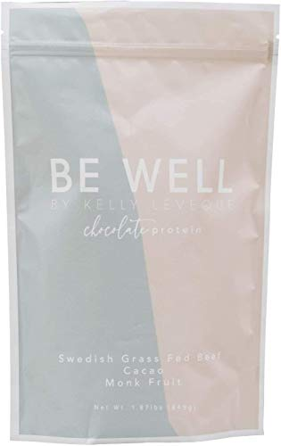 Be Well by Kelly - Swedish Grass-Fed Beef Protein Powder - Paleo and Keto Friendly, Dairy-Free & Gluten-Free - Low Carb Protein Powder with BCAAs & Collagen - 23g Protein (Chocolate - 30 Servings)