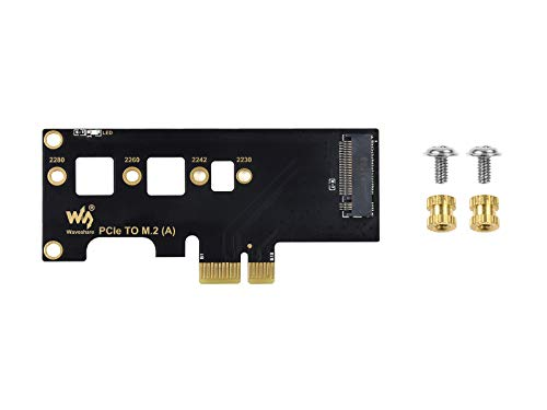 Waveshare PCIe to M.2 Adapter Supports Raspberry Pi Compute Module 4 Adapter for NVMe Protocol M.2 SSD Faster Reading/Writing Improving Efficiency