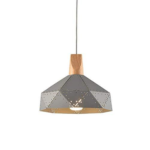 Moderne creatieve persoonlijkheid E27/E26 hanglamp, met zwarte holle lampenkap bar rustieke plafondlamp