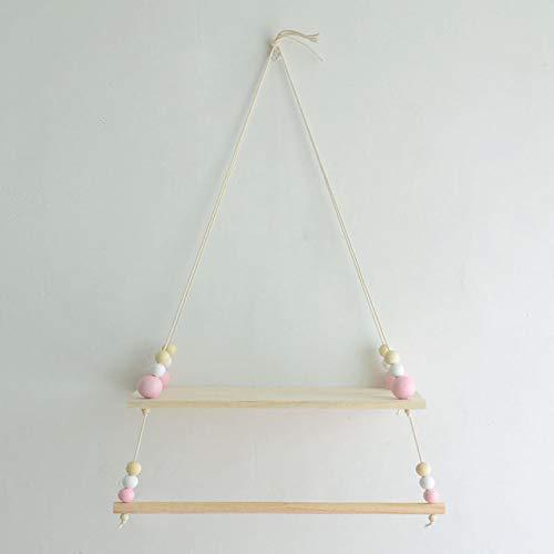Versier LKU Houten parel plank en wand hanger decoratie plank fotolijst fotografie rekwisieten kerstcadeaus, type 1
