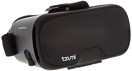 Tzumi Dream Vision VR Smartphone Headset – Adult Unisex Bluetooth Compatible Virtual Reality Headset - Includes Remote Controller and Retractable...