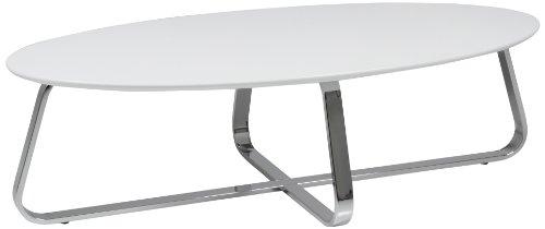 AC Design Furniture Couchtisch Viggo, B: 120 x T:60 x H: 35 cm, MDF, Weiss