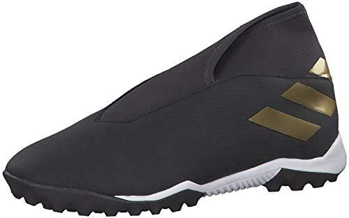 adidas Mens Nemeziz 19.3 Laceless Astro Turf Trainers Football Boots Mesh Upper Black/Black UK 7.5...