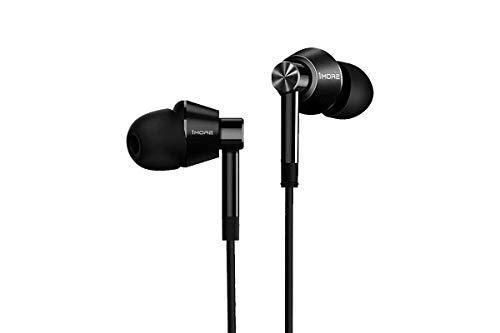 1More Dual Driver In Ear Headphones E1017 - Black Intra-aural écouteur Noir - Casques (Intra-aural, écouteur, Avec fil, 20 - 40000 Hz, 1,25 m, Noir)