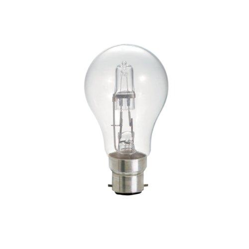 Ampoule Eco-halogène Dimmable à économie d'énergie à baïonnette 70 W Lot de 5 Twinpacks)