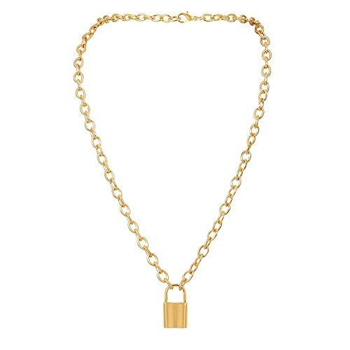 TOMMY LAMBERT Halskette, kreativ, modisch, quadratischer Anhänger, Legierung, Vorhängeschloss, Halskette, Unisex, Schmuck