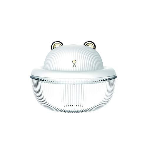 Humidificador Linda Mascota Estilo Difusor de Agua Desktop Night Light Humidificador de Aire ultrasónico DC5V MUDE DE ALGODÓN MEJO Ambientador Casa (Color : White Bear)