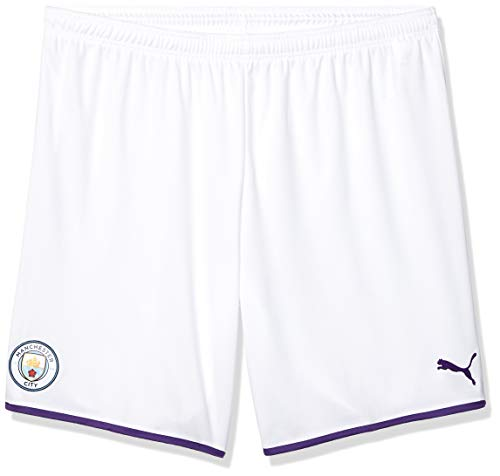 PUMA Herren Manchester City MCFC Replica Shorts, White-Tillandsia Purple, Medium