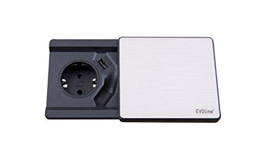 Schulte 159270000800 EVOline Square ohne QI-Ladefunktion, 250 V