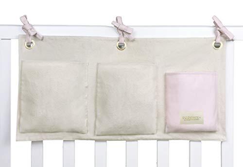ESLESGREEN Organizador de cuna bebé colgante de algodón orgánico (PINK)