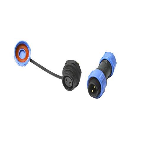 SP13 SP17 Std Series IP68 Wasserdichte Rundsteckverbinder mit mehreren Polen und Steckdosen After Nut 3D-Druckerteile - Schwarz & Blau
