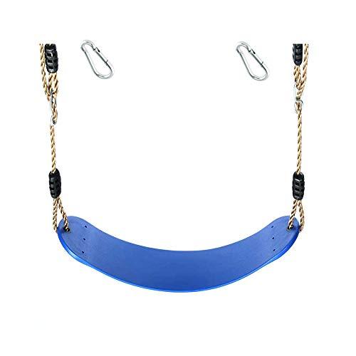 1 Stück h2i Kinder Schaukel Sitz aus flexiblem Gummi incl. Karabiner zum Einhängen (blau)