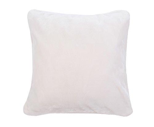 Gözze Premium Cashmere Kissenbezug, Polyester, Wollweiß, 50 x 50 x 5 cm, 2-Einheiten