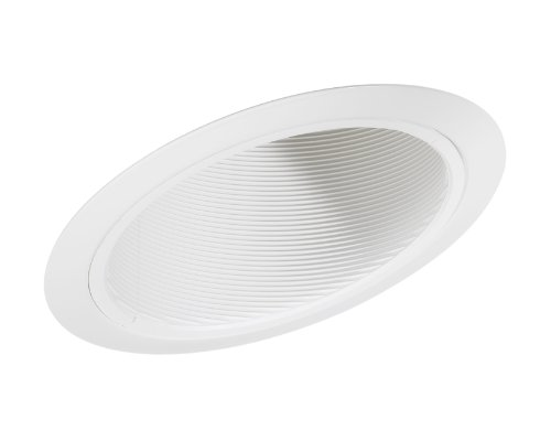 Juno Lighting Group 614W-WH 6-Inch LED Standard Slope Downlight Baffle, 90 Watts, White Trim