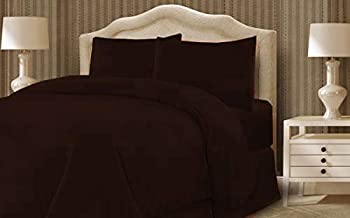 Taraf King Size, Cotton,Solid Pattern, Chocolate- Bedding Sets (Brown)