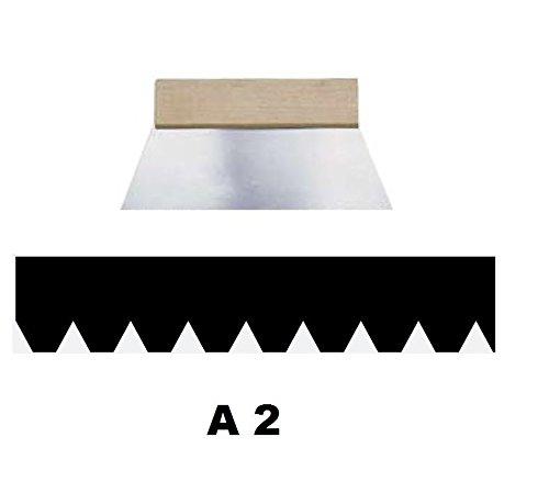 Leim Klebstoff Zahnspachtel Bodenleger Normalstahl A2 1.2x1.8mm gezahnt 250mm