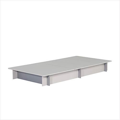 BLOCCO/組み立て 簡単 ベッドフレーム シングル ヘッドレス ヘッドボードなし 大容量 収納付き ベッド下収納 木製 ローベッド ホワイトウォールナット