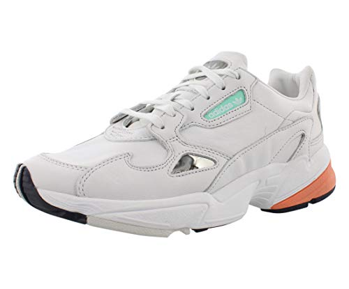 Zapatillas deportivas adidas Originals Falcon para mujer, Blanco (Cristal Blanco/Cristal Blanco/Naranja), 37.5 EU