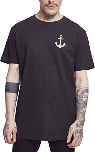 Mister Tee Herren Captain Tee, Black, L