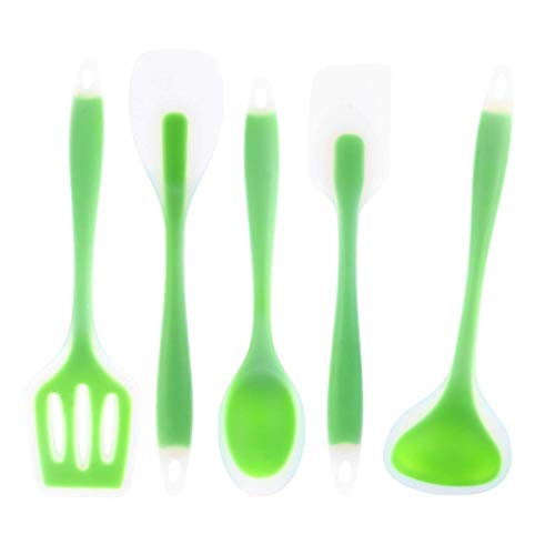 ZXDFG Kitchen Tools 5pcs Set Silicone Kitchen Utensils Set Cooking Accessories Including Spoon Spatula Soup Ladle Gadgets