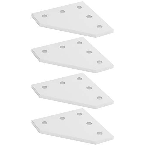 Placa de conexión, placa de unión de 4 piezas, herramienta de conexión en ángulo recto para impresora 3D para la industria de la construcción(2020L type)