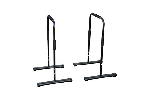 Rakon Dip Stand Station,Heavy Duty Dip Stands Fitness Workout,300LBS Dip Bar Station,Home Gym Equipment