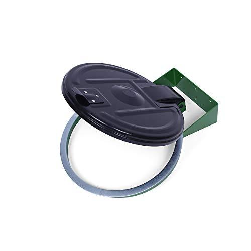 Abfallsackhalter für 120-l-Sack - Wandhalter - grün, Kunststoffdeckel -