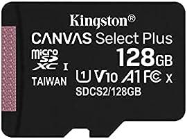 Kingston microSD 128GB 最大100MB/s UHS-I V10 A1 Nintendo Switch已确认操作 Canvas Select Plus SDCS2/128GB