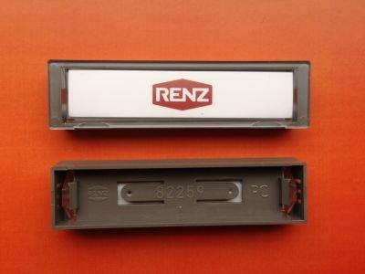 RENZ Namensschild 09 grau 75x19,5mm RENZ Nummer 97-9-82259